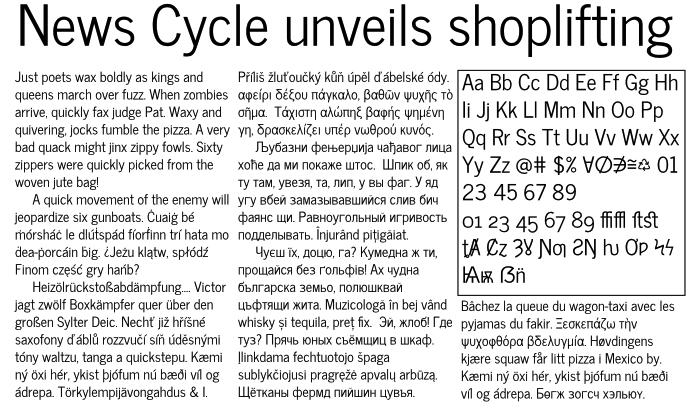 News Cycle font