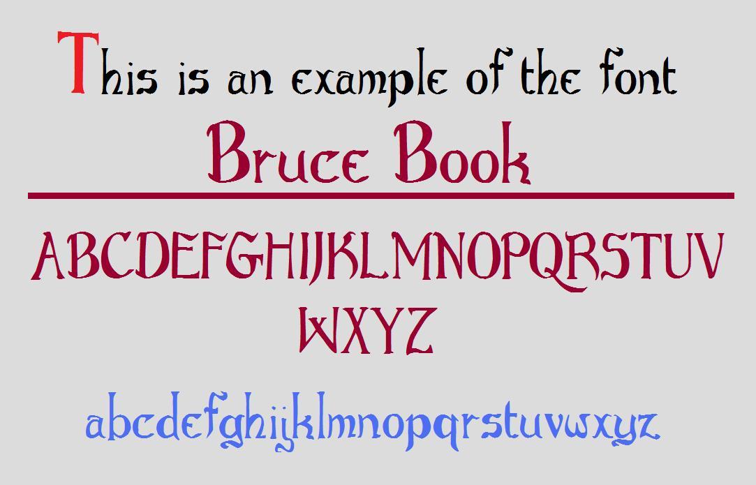 Bruce Book font