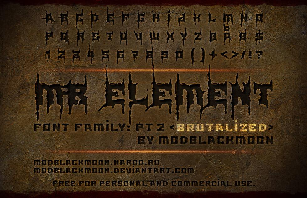 MB-Element Brutalized font