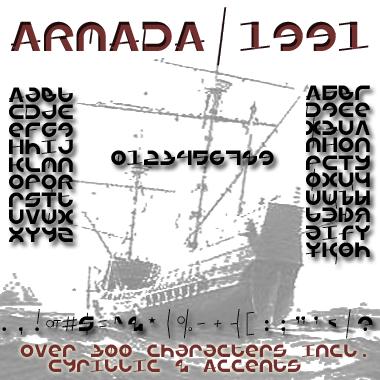Armada/1991 font