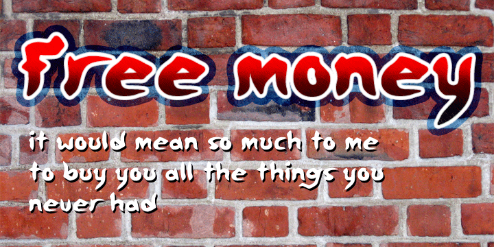 Free money font