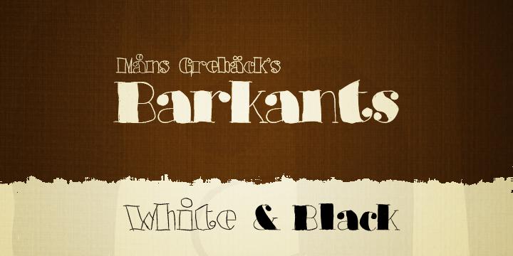 Barkants font