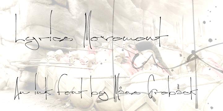 Lyrics Movement font