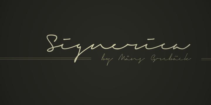 Signerica font