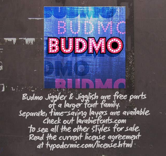 Budmo Jiggler + Jigglish font