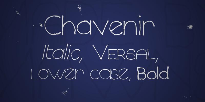 Chavenir font