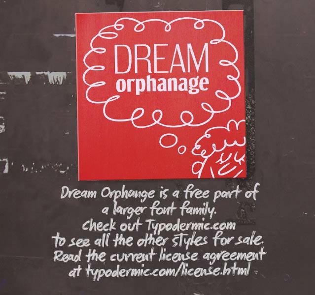 Dream Orphanage font