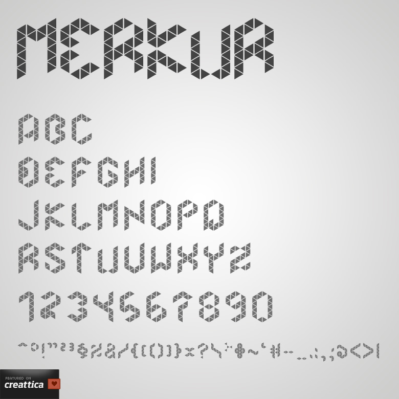 Merkur font
