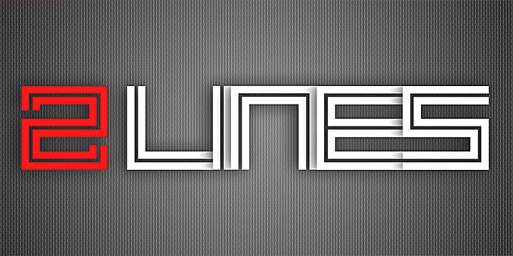 2lines font