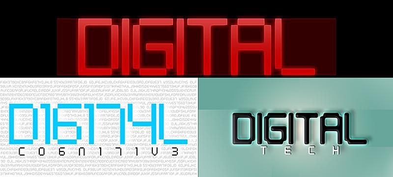 Digital tech font