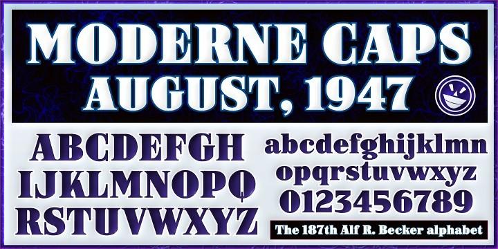 ARB-187 Modern Caps font