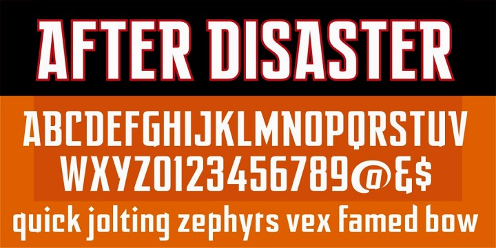After Disaster font