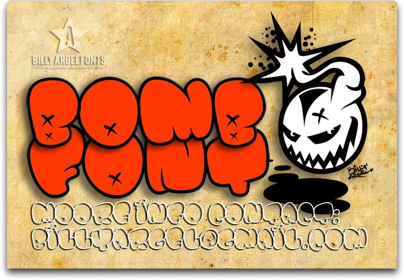 Bomb Font font