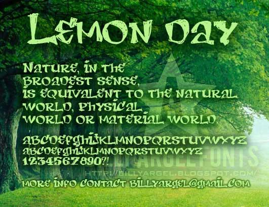 Lemon Day font