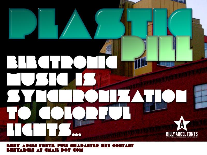 Plastic Pill font