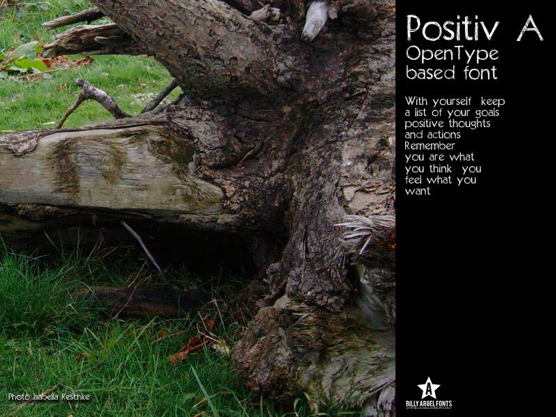 Positiv-A font