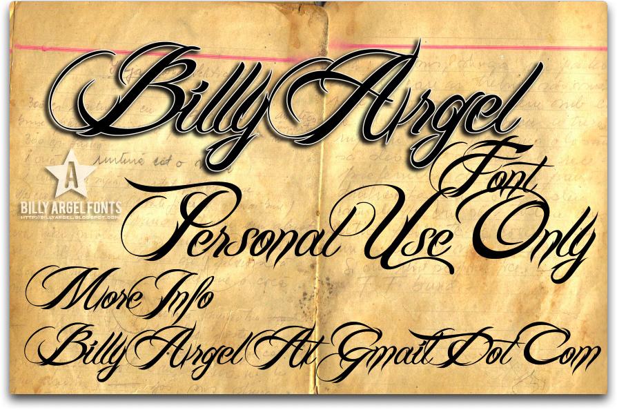 Billy Argel Font font