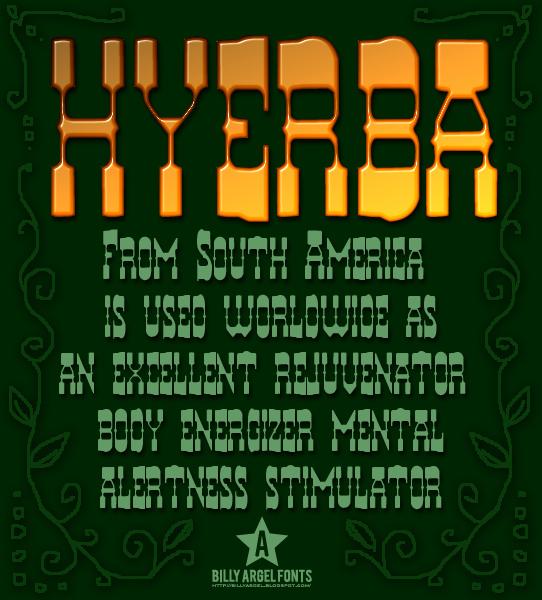 Hyerba font