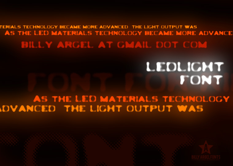 Ledlight font