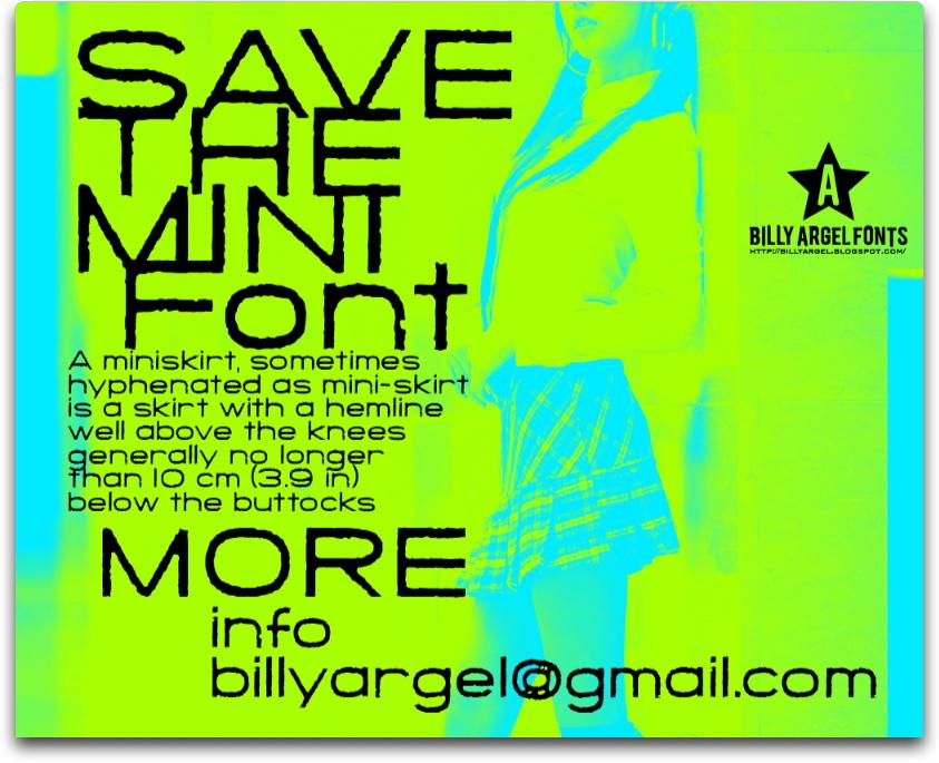 Save The Mini font