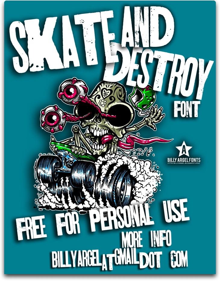 Skt and Destroy font