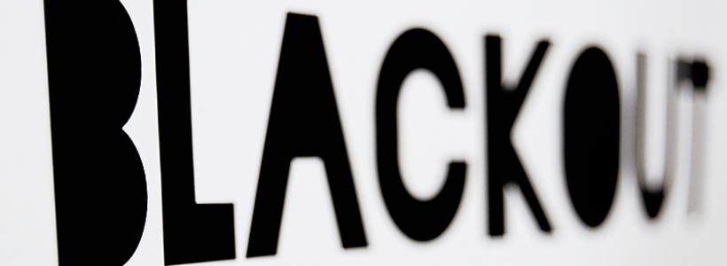 Blackout font