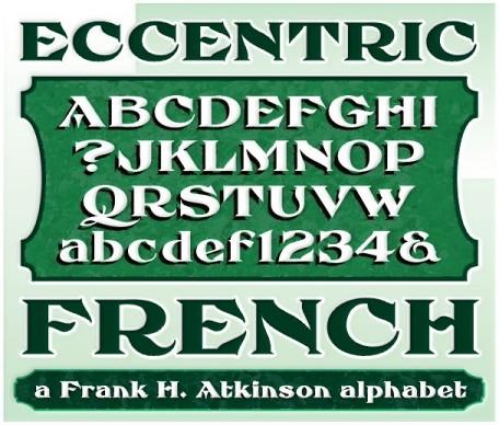 FHA Eccentric French font