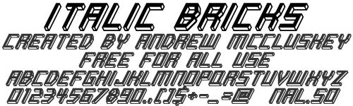 Italic Bricks font