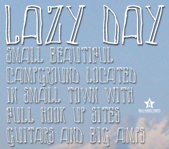 Lazy Day font