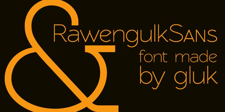 Rawengulk Sans font