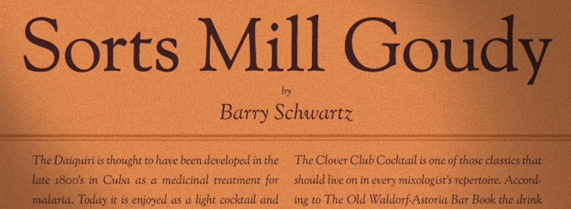Sorts Mill Goudy font