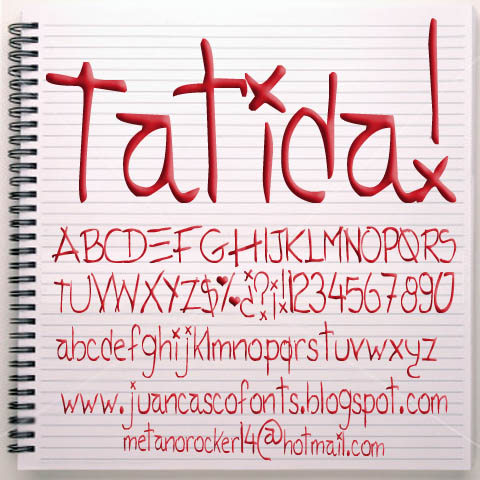 Tatida Rocking font