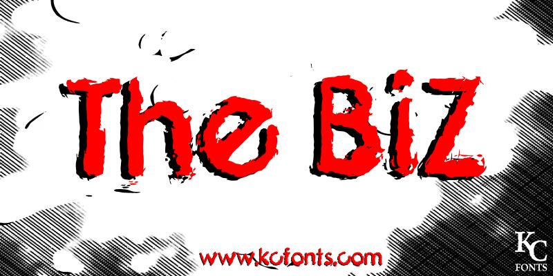 The Biz font
