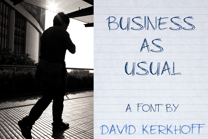 Business As Usual font