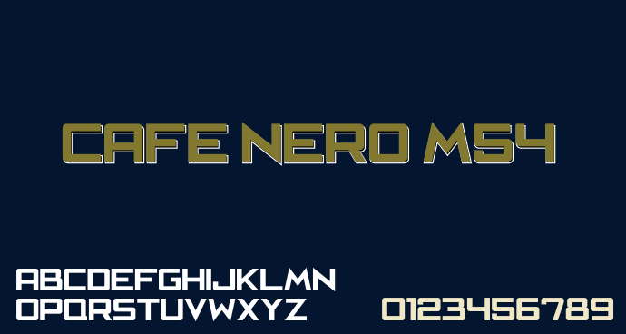 Cafe Nero M54 font