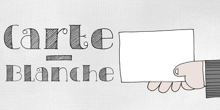 DK Carte Blanche font