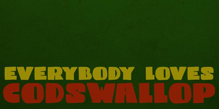 DK Codswallop font