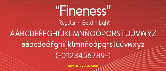 Fineness font