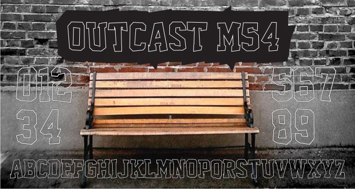 Outcast M54 font