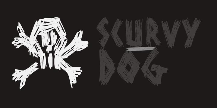 DK Scurvy Dog font