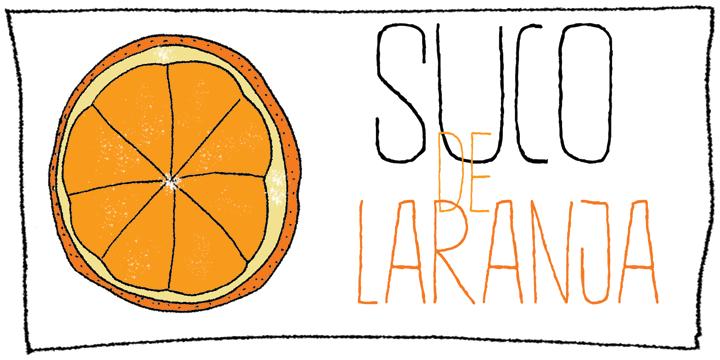 DK Suco De Laranja font