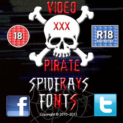 VIDEO PIRATE font