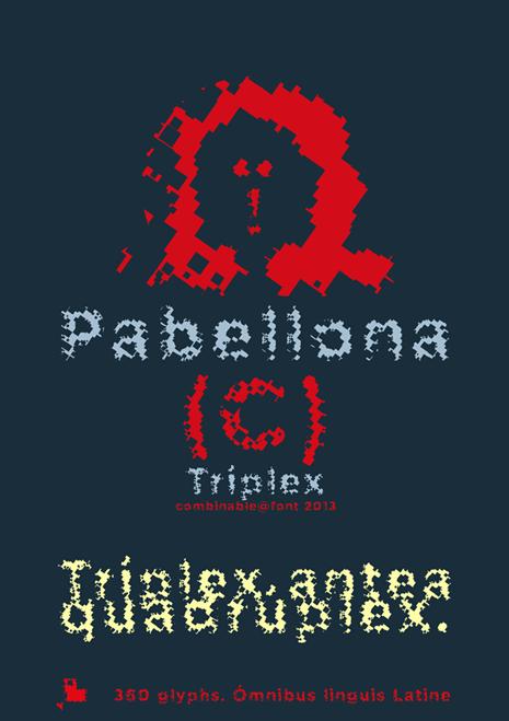Pabellona (C) Tríplex font