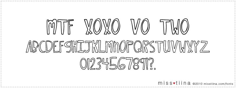 MTF Xoxo Vo.2 font
