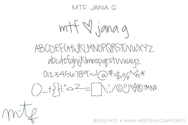 MTF Jana G font