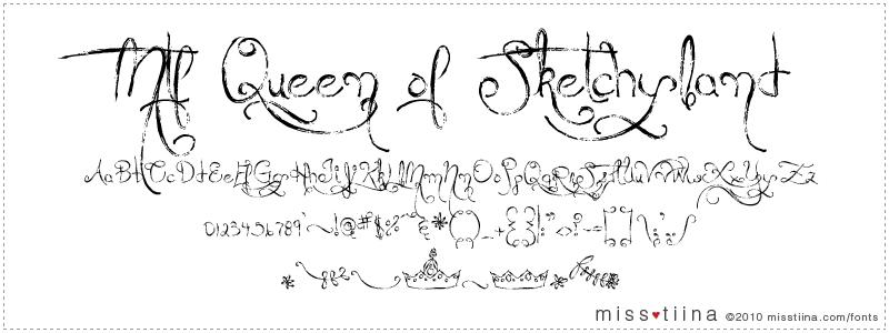 MTF Queen Of Sketchyland font