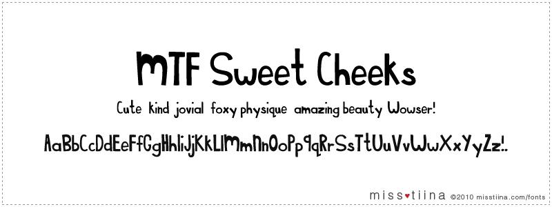 MTF Sweet Cheeks font