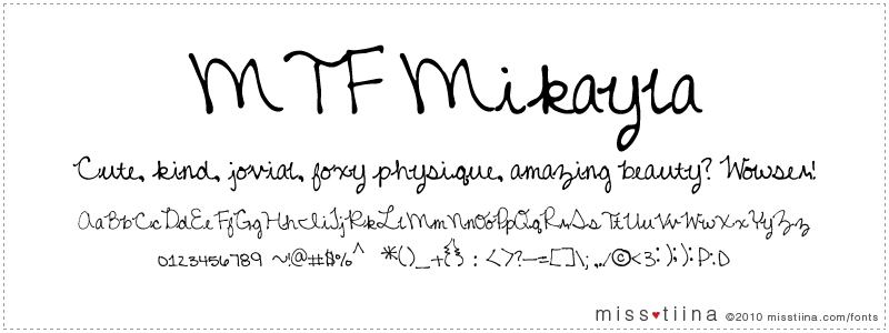 MTF Mikayla font