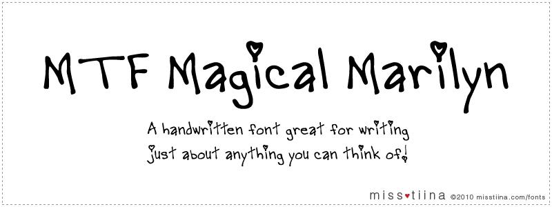 MTF Magical Marilyn font