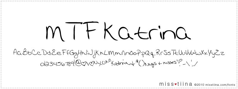 MTF Katrina font